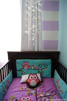 Sweet'n tiny baby girl nursery makeover by @Casa Haus Linda transformación de recámara de bebé