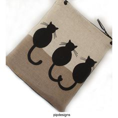 Black Cats Zipped iPad Mini Sleeve Pouch Case Cover