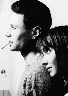 Anna Karina and Michel Subor - Le petit soldat @ Jean Luc Godard // 1963