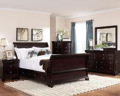 Inglewood Collection California King Sleigh Platform Bed 1402SLK-1CK