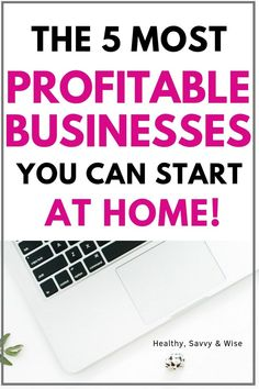 Want to make money working from home? Learn about the most profitable businesses you can start from home. - Earn Money at home Start A Business From Home, Work From Home Jobs, Starting A Business, Make Money From Home, Way To Make Money, Make Money Blogging, Money Tips, Make Money Online, Job Freelance