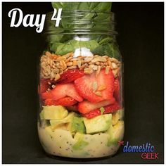 "1,505 Likes, 57 Comments - The Domestic Geek (@thedomesticgeek1) on Instagram: ""Day 4 - Strawberry Avocado Salad -  2 tbsp poppy seed dressing ½ avocado, chopped ½ cup…"""