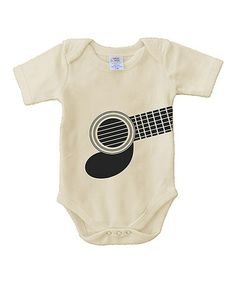 White Guitar Organic Bodysuit - Infant by Urban Smalls #zulily #ad *so sweet