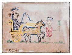 Pablo Picasso (Spanish, 1881-1973) Femme au char triomphal, 1949. | Lot 100 | Auction 2977B | Estimate: $40,000-60,000