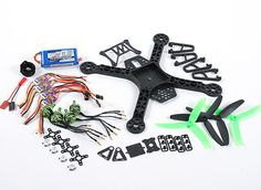 HobbyKing Spec FPV250 V2 Quad Copter ARF Combo Kit - Mini Sized FPV Multi-Rotor (ARF) Quad, Mini, Quad Bike
