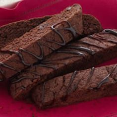 Triple Chocolate Biscotti Recipe - made with Duncan Hines cake mix. Easy!!