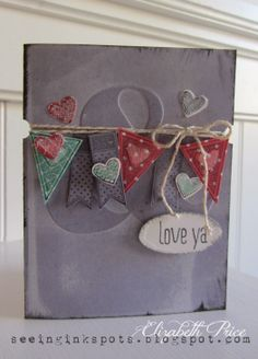 Seeing Ink Spots: Ampersand Textured Embossing Folder with Language of Love and Just Sayin' stamp sets