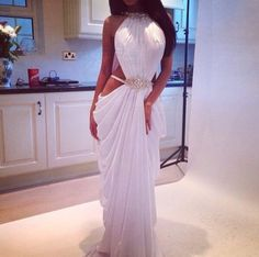 dress girly white maxi dress white dress prom dress evening dress cut-out dress side cut out dress white gold gold low cut dress wear can i get this dress long dress clothes prom
