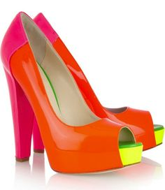 Brian Atwood Alima Neon Patent Pumps