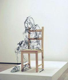 David Oliveira escultura alambre
