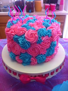 Birthday cake for my girls' party