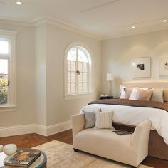 white walls with cream baseboard