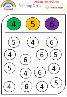 Worksheets 842947255241979475 - Fun circle painting numbers – preschool Source by Printable Preschool Worksheets, Free Kindergarten Worksheets, Kids Worksheets, Alphabet Worksheets, Preschool Learning Activities, Vocabulary Activities, Fun Learning, Preschool Writing, Math For Kids