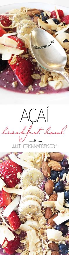 Acai Breakfast Bowl - Start your day right with this smoothie in a bowl, topped with all sorts of amazing things!
