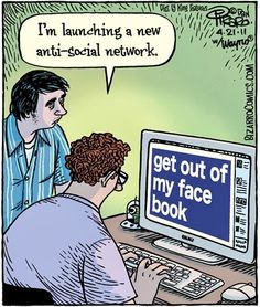 Social Media Humor | Launching a new anti-soial network Created by Bizarro Comics via the Funny Technology Community on Google Plus. Make sure to check out my individual social network boards for Facebook & Twitter humor.