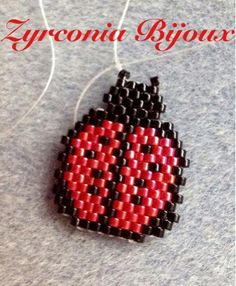 Zyrconia Bijoux: Patterns Beads: ladybug Scheme brick stitch