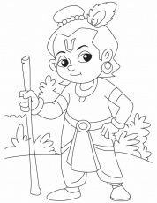 Krishna Sudama Colouring Pages Krishna Drawing Krishna Painting Art Drawings For Kids