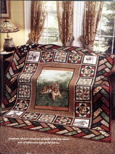 Out of Africa Wildlife Tiger Safari Quilt