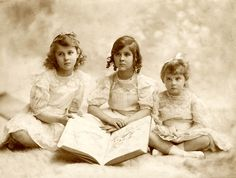 """The Faberge sisters "" Princesses Olga, Elisabeth and Marina of Greece"