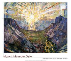 The Sun, 1912 Print by Edvard Munch at Art.com