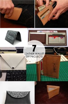 7 Leather Wallet DIY Projects