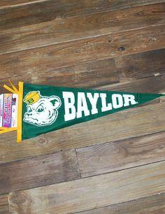 Baylor Sailor Bear felt pennant, 12 x 30 inches