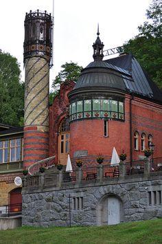 Entrée du Skansen, île de Djurgarden, Stockholm, Sweden