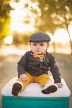 Baby Boy, Toddler, and Boys Bow Tie - Mustard Solid $10.00