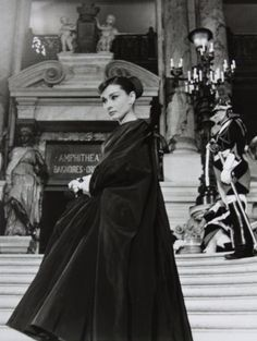 Audrey Hepburn photographed by Luc Fournol, at the Palais Garnier on the set of 'Funny Face', 1956