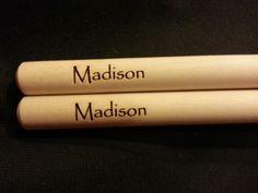 Custom engraved drumsticks for Bob from 3dcarving on Etsy
