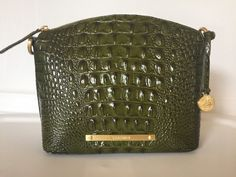Brahmin Mini Duxbury Crossbody Chive Green Melbourne Leather | eBay