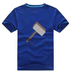 Thor LOGO Print Short-sleeve Unisex T-Shirt - Super Hero Tees For Men & Women-Campaign Categories - TopBuy.com.au