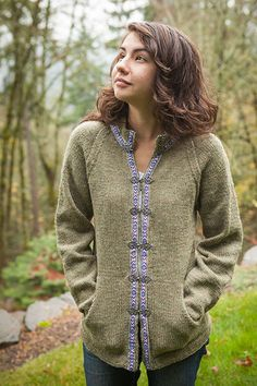 Basic Raglan Jacket - Knitting Patterns and Crochet Patterns from KnitPicks.com by Kerin Dimeler- Laurence