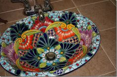 One of the bathrooms in my dream home will be decked out in talavera pottery