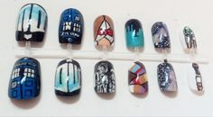 Doctor Who Nail Art Set. $18.00, via Etsy.
