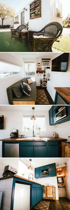 20 Ideas container house interior small spaces shipping containers for A luxury shipping container home from Alternative Living . Storage Container Homes, Container House Design, Shipping Container Homes, Container Houses, Shipping Containers, Tiny House Living, Small Living, Home And Living, Living Spaces