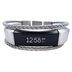 8367a60e2295 Fitbit Alta Bracelet Aurel - Silver - stainless steel - real leather -  Jewelry for Fitbit