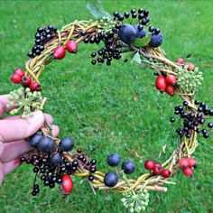 In this simple tutorial we show you how to weave a beautiful, rustic willow wreath with sticks taken from our weeping willow tree. Willow Fence, Willow Wreath, Garden Crafts, Garden Art, Wreath Crafts, Fun Crafts, Willow Green, Weeping Willow, Nature Crafts
