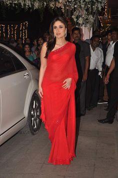 Kareena Kapoor looks hot in red sari and sindoor