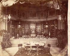 Warszawa – wnętrze cukierni Lourse'a w Hotelu Europejskim 1870
