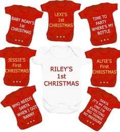 Christmas bodysuit  choose any slogan free Uk postage on Etsy, £6.99