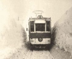 Bucharest Tram Line in snow, 1954 Paris, Old City, Train Travel, Old Pictures, The Past, Memories, In This Moment, Snow, Country