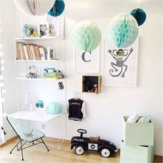 kids desk ideas with shelves