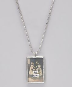 Take a look at this Silver 'Soul Sisters' Soldered Pendant Necklace on zulily today!