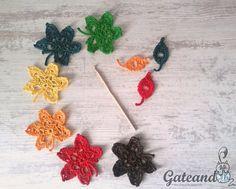 Patrón hojas otoñales a crochet / Autumn leaves Crochet Pattern