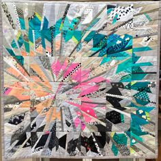 Spiral 102 x 102 cm, for sale Bird Quilt Blocks, Quilt Block Patterns, Pink Quilts, Scrappy Quilts, Quilting Projects, Sewing Projects, Quilt Modernen, American Quilt, String Quilts