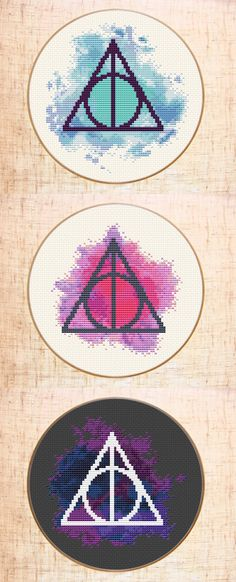 Harry Potter cross stitch pattern Deathly Hallows cross stitch