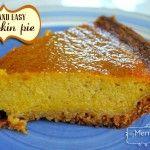 Easy Pumpkin Pie Recipe with Real Pumpkins