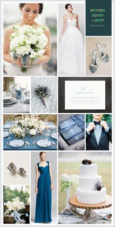 REVEL: Winter Blues + Grey Wedding Inspiration