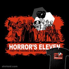 Horror's Eleven tshirt by Tracey Gurney